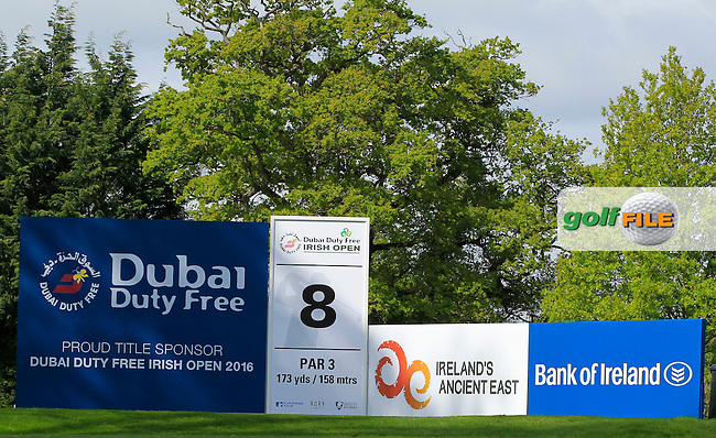 The 8th tee during Tuesday's Practice round of the Dubai Duty Free Irish Open Trophy at The K Club, Straffan, Co. Kildare<br /> Picture: Golffile | Thos Caffrey<br /> <br /> All photo usage must carry mandatory copyright credit <br /> (&copy; Golffile | Thos Caffrey)