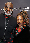 Bebe Winans and Stephanie Mills attends the Broadway Opening Night of 'AMERICAN SON' at the Booth Theatre on November 4, 2018 in New York City.