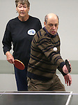 Betty Young and Gary Nitzberg practice for the Reno Tahoe Senior Games table tennis competition at the Carson City Senior Citizen Center in Carson City, Nev., on Friday, Jan. 29, 2016. <br /> Photo by Cathleen Allison