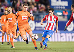 Nicolas Gaitan of Atletico de Madrid fights for the ball with Cristian Rivera Hernandez of SD Eibar during their Copa del Rey 2016-17 Quarter-final match between Atletico de Madrid and SD Eibar at the Vicente Calderón Stadium on 19 January 2017 in Madrid, Spain. Photo by Diego Gonzalez Souto / Power Sport Images