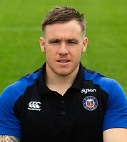 Matt Egan of Bath Rugby poses for a portrait. Bath Rugby Media Day on August 14, 2018 at Farleigh House in Bath, England. Photo by: Patrick Khachfe / Onside Images