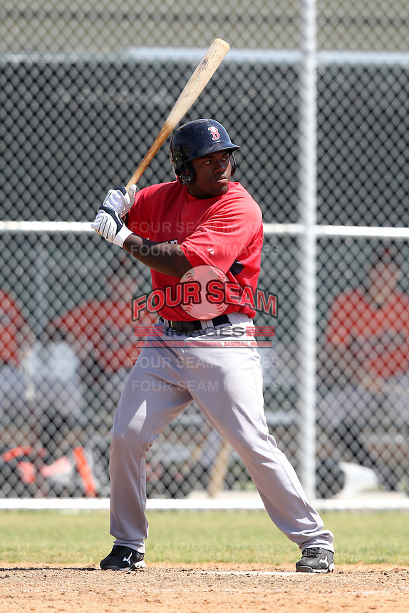 Boston Red Sox minor league player William Holmes #47 during a spring training game vs the Baltimore Orioles at the Buck O'Neil Complex in Sarasota, Florida;  March 22, 2011.  Photo By Mike Janes/Four Seam Images