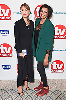 LONDON, UK. September 10, 2018: Nicola Walker &amp; Meera Syal at the TV Choice Awards 2018 at the Dorchester Hotel, London.<br /> Picture: Steve Vas/Featureflash