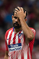 Diego Costa of Atletico Madrid during the match between Atletico Madrid v SD Huesca of LaLiga, 2018-2019 season, date 6. Wanda Metropolitano Stadium. Madrid, Spain - 25 September 2018. Mandatory credit: Ana Marcos / PRESSINPHOTO
