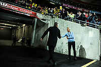 Phoenix coach Mark Rudan leaves the field after the A-League football match between Wellington Phoenix and Melbourne City FC at Westpac Stadium in Wellington, New Zealand on Sunday, 21 April 2019. Photo: Dave Lintott / lintottphoto.co.nz