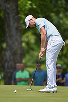 Daniel Berger (USA) watches his putt on 2 during round 3 of the 2019 Charles Schwab Challenge, Colonial Country Club, Ft. Worth, Texas,  USA. 5/25/2019.<br /> Picture: Golffile | Ken Murray<br /> <br /> All photo usage must carry mandatory copyright credit (© Golffile | Ken Murray)