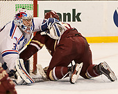 Tyler Wall (UML - 33), Chris Calnan (BC - 11) The University of Massachusetts-Lowell River Hawks defeated the Boston College Eagles 4-3 to win the 2017 Hockey East tournament at TD Garden on Saturday, March 18, 2017, in Boston, Massachusetts.