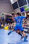 SCHMIDT, David (#77 TVB 1898 Stuttgart) \ beim Spiel in der Handball Bundesliga, TVB 1898 Stuttgart - Die Eulen Ludwigshafen.<br /> <br /> Foto &copy; PIX-Sportfotos *** Foto ist honorarpflichtig! *** Auf Anfrage in hoeherer Qualitaet/Aufloesung. Belegexemplar erbeten. Veroeffentlichung ausschliesslich fuer journalistisch-publizistische Zwecke. For editorial use only.