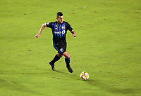 CARSON, CA - SEPTEMBER 21: Saphir Taider #8 of the  Montreal Impact moves with the ball during a game between Montreal Impact and Los Angeles Galaxy at Dignity Health Sports Park on September 21, 2019 in Carson, California.