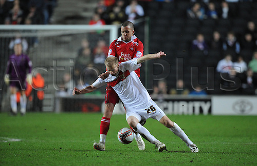 20.03.2012 Milton Keynes, England. Milton Keynes Dons v Leyton Orient.  Luke Chadwick (MK Dons) Midfielder in action during the NPower League 1 game played at Stadium MK.