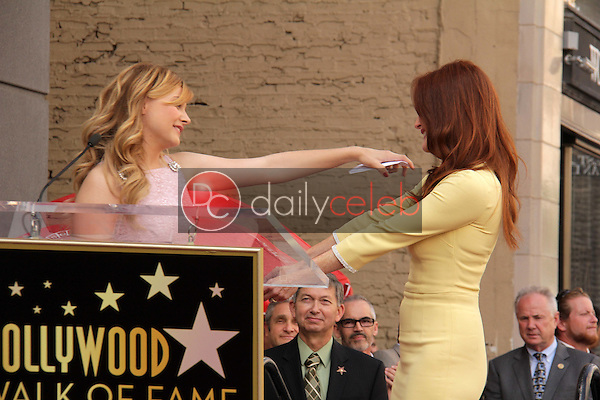 Chloe Grace Moretz, Julianne Moore<br /> at Julianne Moore's Star on the Hollywood Walk of Fame Ceremony, Hollywood Walk of Fame, Hollywood, CA 10-03-13<br /> David Edwards/Dailyceleb.com 818-249-4998