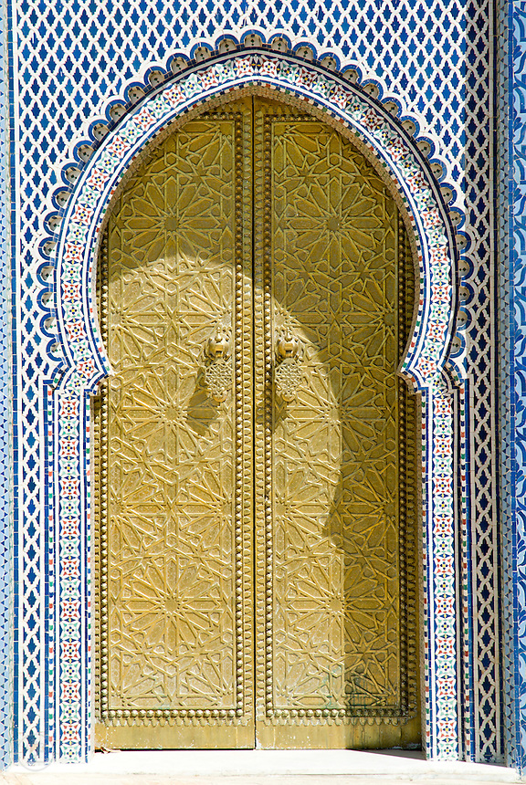 Detail of the palace gate, Fez, Morocco.