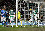 Celtic v St Johnstone...23.01.16   SPFL  Celtic Park, Glasgow<br /> Stefan Johansen clears off the line from a Joe Shaugnessy header<br /> Picture by Graeme Hart.<br /> Copyright Perthshire Picture Agency<br /> Tel: 01738 623350  Mobile: 07990 594431