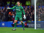 West Ham United goalkeeper David Martin issues instructions during the Premier League match at Stamford Bridge, London. Picture date: 30th November 2019. Picture credit should read: Robin Parker/Sportimage