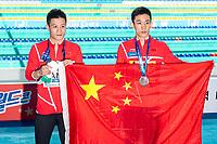 YANG Jian CHN CHINA Gold Medal, YANG Hao CHN CHINA Silver Medal<br /> Gwangju South Korea 20/07/2019<br /> Diving Men's 10m Platform Final<br /> 18th FINA World Aquatics Championships<br /> Nambu University Aquatics Center <br /> Photo © Andrea Staccioli / Deepbluemedia / Insidefoto