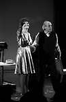 """Lucie Arnaz and Robert Klein during the curtain call bows for """"They're Playing Our Song"""" Concert Benefit for The Actors Fund at the Music Box Theatre on February 11, 2019 in New York City."""