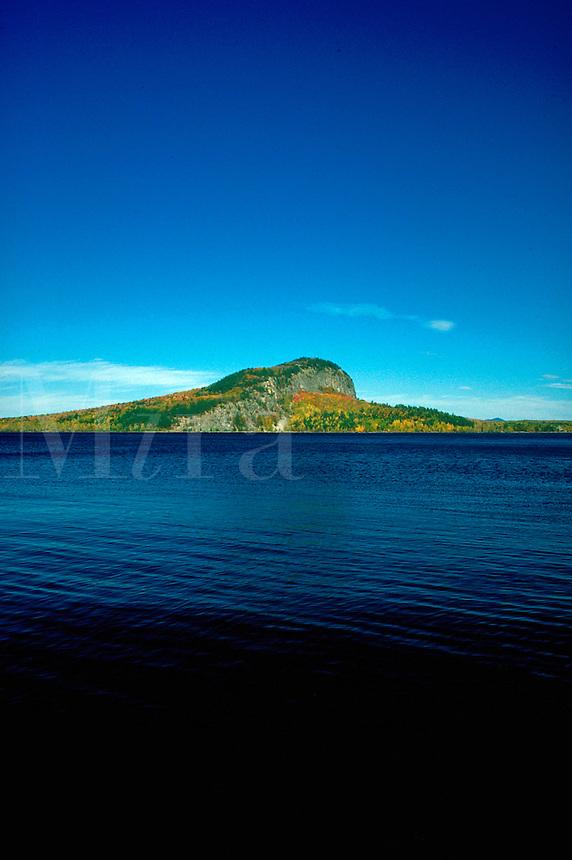 Mount Kineo and Moosehead Lake. Maine