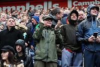 Preston North End fans cheer after their side drew level<br /> <br /> Photographer Alex Dodd/CameraSport<br /> <br /> The EFL Sky Bet Championship - Preston North End v Bristol City - Saturday 28th September 2019 - Deepdale Stadium - Preston<br /> <br /> World Copyright © 2019 CameraSport. All rights reserved. 43 Linden Ave. Countesthorpe. Leicester. England. LE8 5PG - Tel: +44 (0) 116 277 4147 - admin@camerasport.com - www.camerasport.com