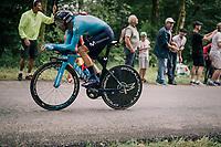 Alejandro Valverde (ESP/Movistar)<br /> <br /> Stage 20 (ITT): Saint-P&eacute;e-sur-Nivelle &gt;  Espelette (31km)<br /> <br /> 105th Tour de France 2018<br /> &copy;kramon