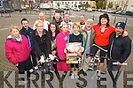 Pictured getting ready for a 12 hour spinathon which will take place in the Square Listowel on   the 30th November were from left: Aine Elbelle, Tony Duggan, Mary Twomey, George O'Grady, Michelle Tidings, Donal O'Sullivan, Sharon Heffernan, Siobhan Dowling, Donal White, Frank Hughes, David Griffin, Kay McDonnell and Gordon Flannery.