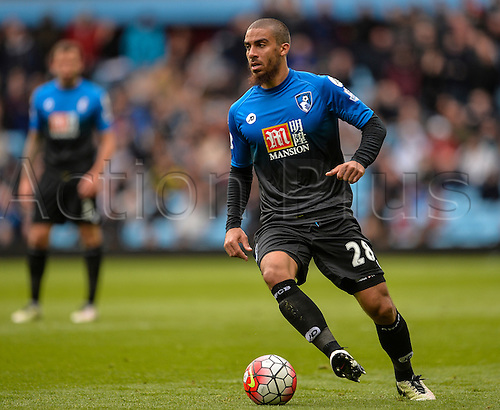 09.04.2016. Villa Park, Birmingham, England. Barclays Premier League. Aston Villa versus Bournemouth. Lewis Grabban of Bournemouth on the ball.