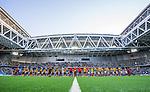 Stockholm 2014-07-07 Fotboll Allsvenskan Djurg&aring;rdens IF - IF Elfsborg :  <br /> Vy &ouml;ver Tele2 Arena under lineup innan matchen mellan Djurg&aring;rden och IF Elfsborg <br /> (Foto: Kenta J&ouml;nsson) Nyckelord:  Djurg&aring;rden DIF Tele2 Arena Elfsborg IFE inomhus interi&ouml;r interior
