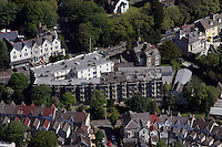 Aerial view of Belgrave Court in Swansea