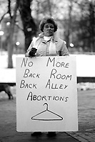 Candlelight vigil at Boston Common  in favor of abortion rights and in support of Dr. Kenneth Edelin on trial for manslaughter for performing an abortion Boston MA 2.17.75