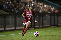 STANFORD, CA - September 27, 2018: Kiki Pickett at Stanford Stadium. The Stanford Cardinal defeated the UCLA Bruins, 3-2.
