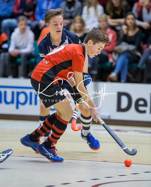 ROTTERDAM  - NK Zaalhockey  finale . hdm JB1-Schaerweijde JB1 (3-5)  . Schaerweijde  Nederlands Kampioen -16.  Lucas Veen.    COPYRIGHT KOEN SUYK