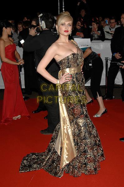 GEMMA MERNA.National Television Awards 2007.Royal Albert Hall.31st October 2007 London, England.full length gold dress.CAP/PL.©Phil Loftus/Capital Pictures