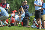 England's Mike Tindall and Zara Tindall with daughter Mia Tindall<br /> <br /> Celebrity Cup 2019 - Golf - Celtic Manor resort - Sunday 14th July 2019 - Newport<br /> <br /> © www.fotowales.com- PLEASE CREDIT IAN COOK