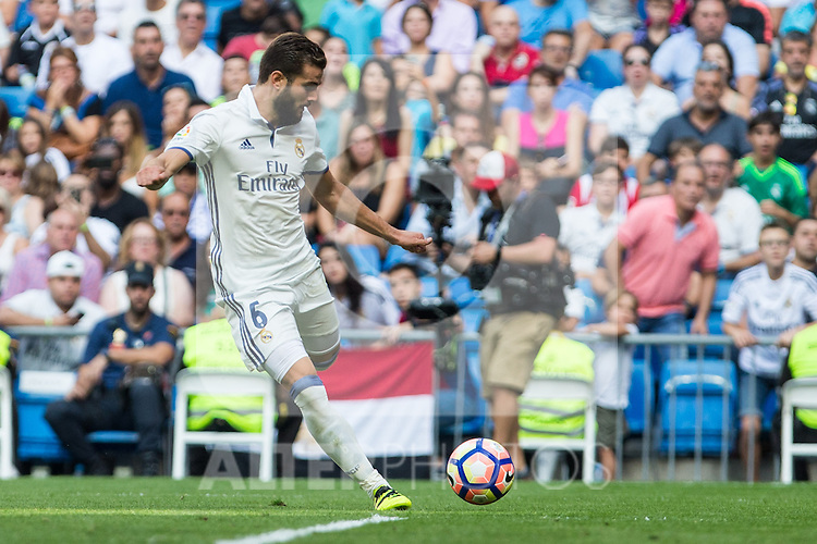 Real Madrid's Nacho Fernandez during the match of La Liga between Real Madrid and Club Atletico Osasuna at Santiago Bernabeu Estadium in Madrid. September 10, 2016. (ALTERPHOTOS/Rodrigo Jimenez)