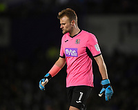 Exeter City keeper Lewis Ward during Portsmouth vs Exeter City, Leasing.com Trophy Football at Fratton Park on 18th February 2020