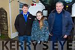 Anthony Noughton (Killorglin), Megan Moriarty (Killorglin) and Sylvie Kerrisk (Castlemaine) at the James Ashe Memorial Tractor run in Boolteens on Sunday.
