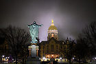 January 24, 2020: Main Building in fog (Photo by Matt Cashore/University of Notre Dame)