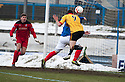 Thistle's Kris Doolan scores their second goal.
