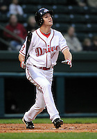 April 5, 2008: Outfielder David Mailman (11) of the Greenville Drive, Class A affiliate of the Boston Red Sox, in a game against the Kannapolis Intimidators at Fluor Field at the West End in Greenville, S.C. Photo by:  Tom Priddy/Four Seam Images