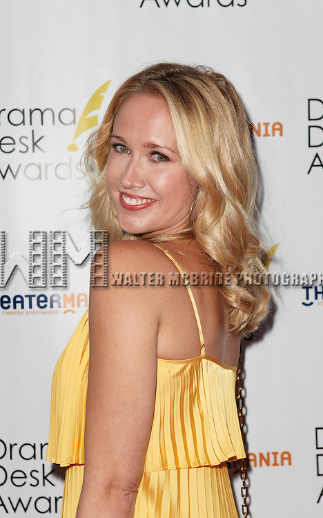 Anna Camp pictured at the 57th Annual Drama Desk Awards held at the The Town Hall in New York City, NY on June 3, 2012. © Walter McBride