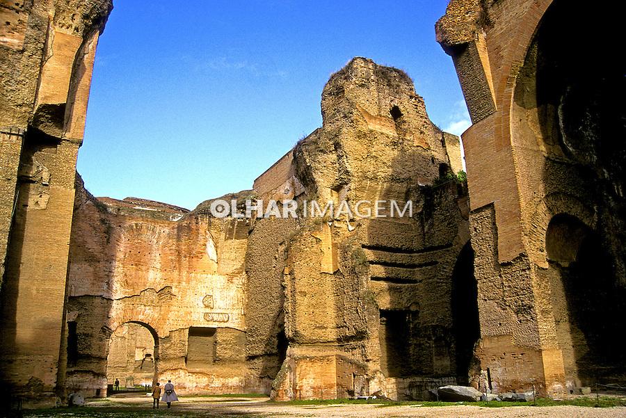 Termas de Caracalla, Roma. Itália. 1999. Foto de Vinicius Romanini.