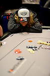 Team Pokerstars.net Pro Vanessa Rousso is all in 2 out from the money bubble.  Her pocket kings doubled her up against her opponent's pocket queens.