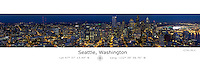Seattle Panorama with Latitude and Longitude