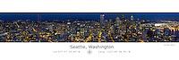 Seattle Panorama with Latitude and Longitude