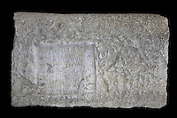 Funerary inscription in Greek on a limestone plaque, 3rd century AD, with epitaph of a father of the synagogue and leader of the Jewish community named Caecilianos, who died aged 45 years, 8 months, 3 days, from Volubilis, Northern Morocco. Volubilis was founded in the 3rd century BC by the Phoenicians and was a Roman settlement from the 1st century AD. Volubilis was a thriving Roman olive growing town until 280 AD and was settled until the 11th century. The buildings were largely destroyed by an earthquake in the 18th century and have since been excavated and partly restored. Volubilis was listed as a UNESCO World Heritage Site in 1997. Picture by Manuel Cohen