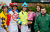 2013 leading rider Alex Cintron at Delaware Park on 10/9/13