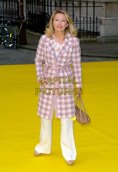 KIRSTY YOUNG.Royal Academy Summer Exhibition 2007 arrivals, at the Royal Academy of Arts, Piccadilly, London, England..June 6th, 2007 .full length white trousers cream pink tweed jacket coat gold bag purse.CAP/CAN.©Can Nguyen/Capital Pictures