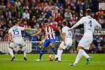 Atletico de Madrid's player XXX and Malaga CF XXX during a match of La Liga Santander at Vicente Calderon Stadium in Madrid. October 29, Spain. 2016. (ALTERPHOTOS/BorjaB.Hojas)