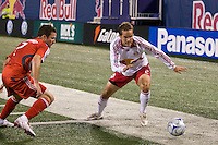 New York Red Bulls defender Kevin Goldthwaite (2) and Toronto FC defender Hunter Freeman (2). Toronto FC defeated the New York Red Bulls 3-1 during a Major League Soccer match at Giants Stadium in East Rutherford, NJ, on October 04, 2008. Photo by Howard C. Smith/isiphotos.com
