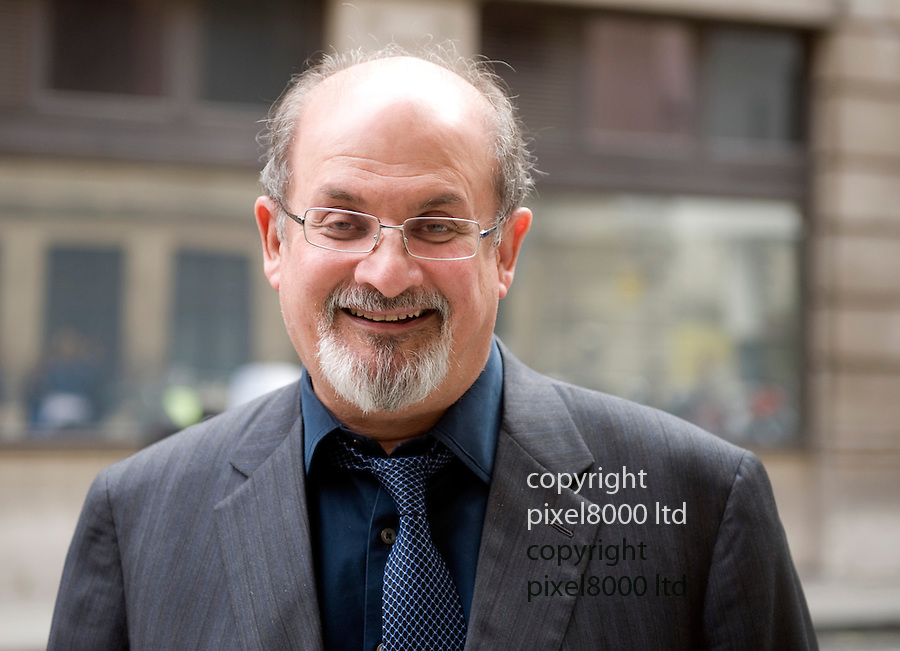 Radio 2 arrivals 7.10.10.Salman Rushdie arrives at the studios...Picture by Gavin Rodgers/ Pixel 07917221968