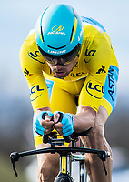 Picture by Alex Broadway/SWpix.com - 07/03/2018 - Cycling - 2018 Paris Nice - Stage Four -  La Fouillouse to Saint-Etienne - Luis Leon Sanchez of Astana Pro Team rides in the time trial.<br /> <br /> NOTE : FOR EDITORIAL USE ONLY. THIS IS A COPYRIGHT PICTURE OF ASO. A MANDATORY CREDIT IS REQUIRED WHEN USED WITH NO EXCEPTIONS to ASO/Alex Broadway MANDATORY CREDIT/BYLINE : ALEX BROADWAY/ASO